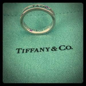 💕 Tiffany & Co 1837 Sterling Silver Ring Size 5